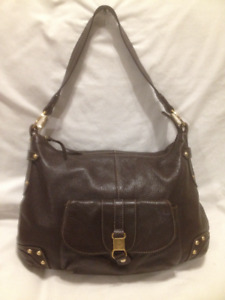 All Leather Brown Hobo Hand Bag/Shoulder Bag by the Sak