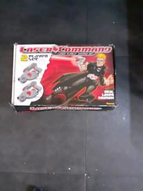 Vintage Laser Command 2 player set.