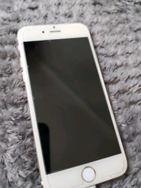 iPhone 6 gold 16gb (hairline crack on screen)