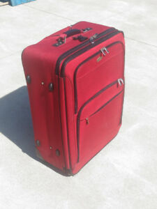 Suitcase 30inch tall with storage compartment for suit/dress