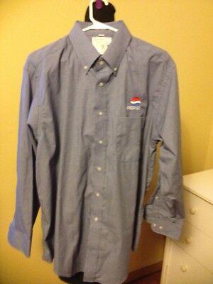 ExecutiveCollection/Riverside Pepsi Shirt BlueMiniCheck LongSleeves 32-33 17.5