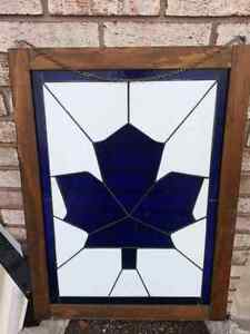 "Stain glass 18 x 25 "" framed  ready to hang Windsor Region Ontario image 2"