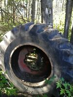 Skidder tire on ream