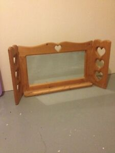Wooden Heart Mirror Peterborough Peterborough Area image 1