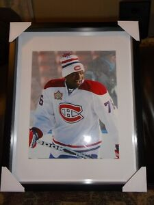 P.K. SUBBAN FRAMED PHOTO MONTREAL CANADIENS BRAND NEW