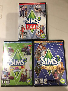 The Sims 3 Expansions for PC/Mac New and Sealed