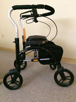 Like new! Mobility assist bundle - Walker, bed assist rail, cane