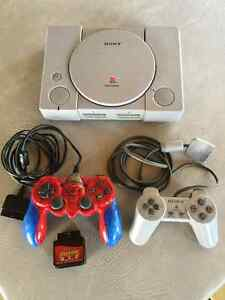 Original PlayStation Console and 2 Controllers