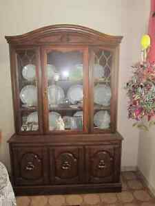 Dining room hutch and china display cabinet