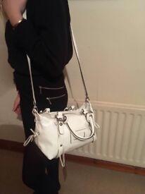 Coccinelle white glossy handbag