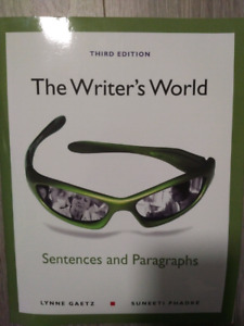 The Writer's World - Sentences and Paragraphs - third edition