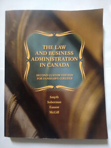 The Law and Business Administration in Canada.