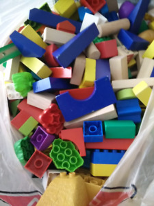 Duplo and wooden blocks