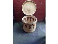 Huge Vintage rattan basket