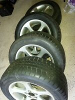 BMW X 5 Rims and new Hankook Icebear W300 255/55R18 Snow tires
