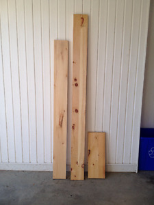Planche de pin pour faire des tablettes