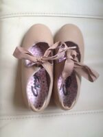 Size 12 1/2 beige tap shoes