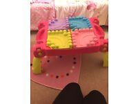 Mega blocks pink table
