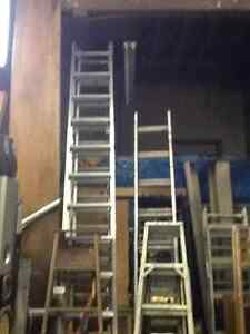 LADDERS, aluminum extension, wood $75 +up