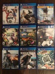 Jeux de PS4 à vendre ou échanger 1pour15$, 2pour25$, 3pour30$
