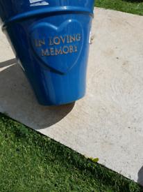 In loving memory terricotta pots
