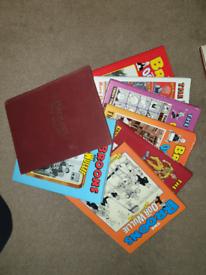 Beano, Dandy, Broons, Oor Wuillie, comics and anuals