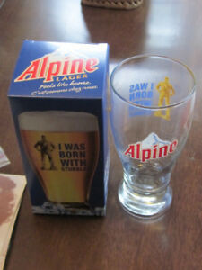 12 Alpine Beer Glasses Still in Boxes