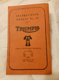 Triumph instruction manual No 17