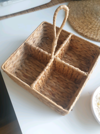 Table caddy from natural materials