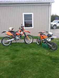 2006 KTM exc 450 blue plated.