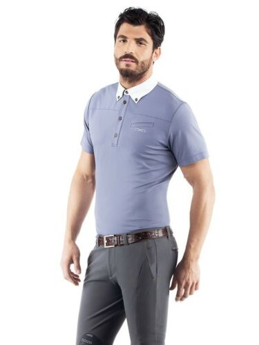 ANIMO AZIR - Mens Short Sleeve Polo - Grey - Sizes ITAL 42
