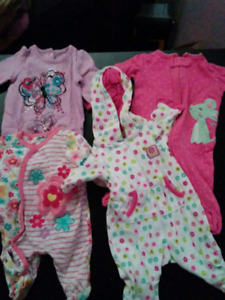 Newborn girl sleepers