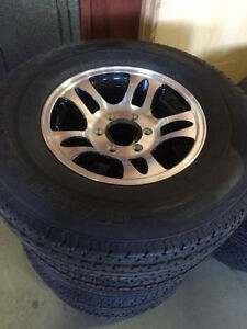 ST 235/80 R16 6 Bolt Trailer Rims and Tires