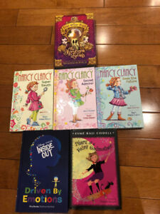 5 hardcover books for tween girls 3 from the Nancy Clancy series