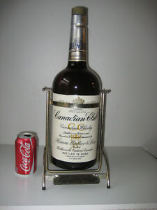 RARE! 1 GAL CANADIAN CLUB WHISKEY BOTTLE in DISPLAY STAND Peterborough Peterborough Area image 1