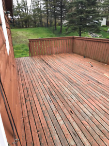 Free demolished decking