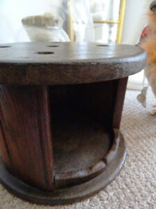 antique buggy COLONIAL Victorian FOOT STOVE wood TIN LINED