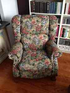 2 Fugly but Comfortable LazyBoy Recliner Chairs