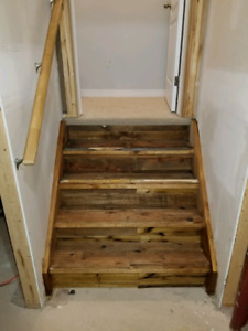 Match Made Decor Rustic Stair Finishing