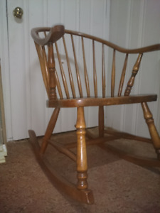 Antique Hardwood Rocking Chair Great Condition