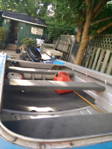 14ft Deep V aluminum boat