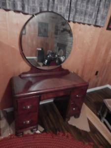 Antique, Make-up Dresser, Solid Wood