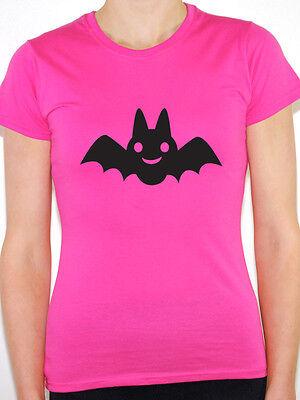 CARTOON BAT SILHOUETTE - Halloween / Bats / Novelty Themed Women's T-Shirt