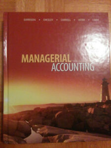 Managerial Accounting - 9th Canadian Edition Kitchener / Waterloo Kitchener Area image 1