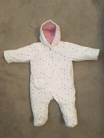 M&S Baby Snowsuit Age 0-3mnths