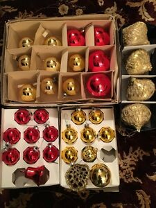 Beautiful Red and Gold Christmas Ornaments