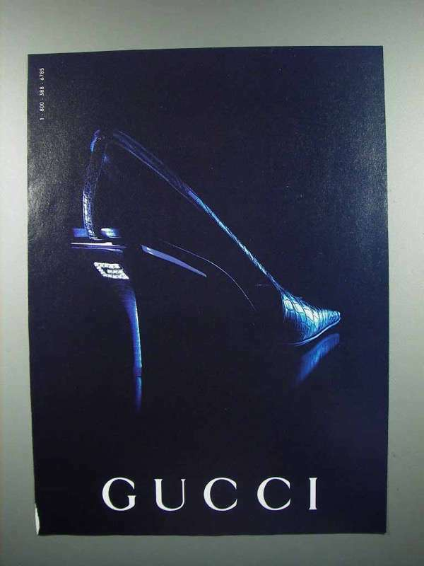 1998 Gucci Shoes Ad