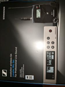 Sennheiser 100 G4 ME4 lav mic set