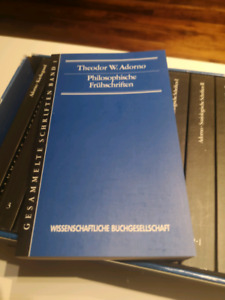 Complete works of Theodor Adorno in German