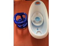 Baby bath and swivel bath seat